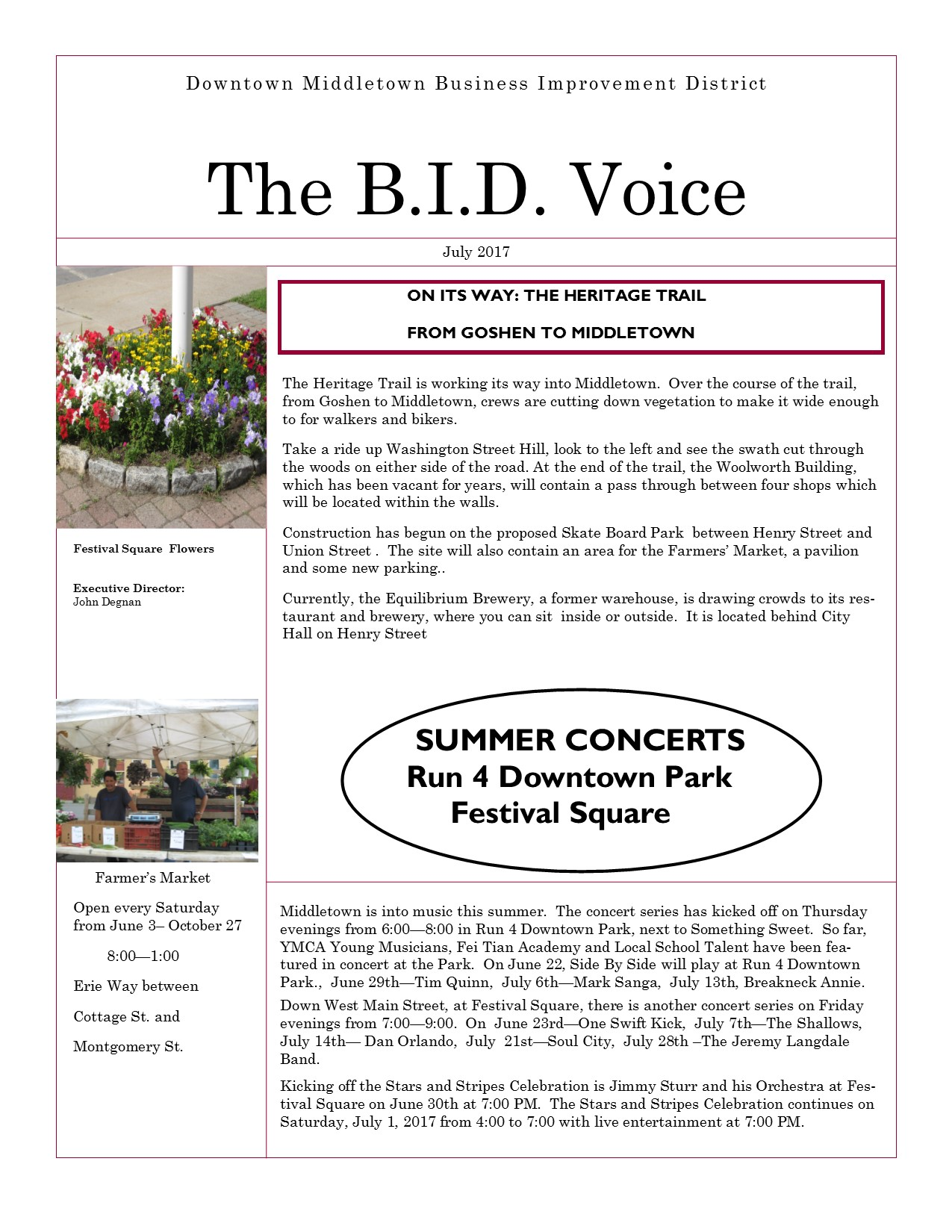 New BID Voice. July 1 2017